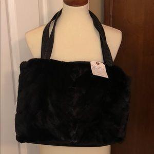 Black Sheared Mink tote